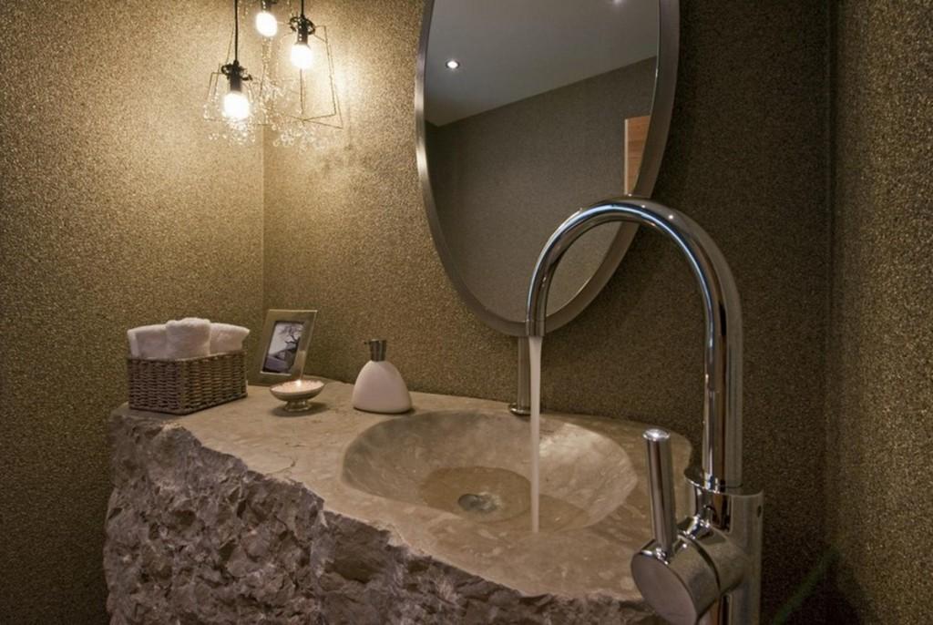 stone bathroom sink - kraisee