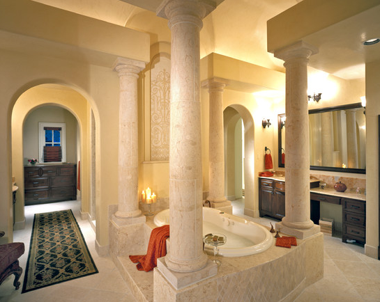 Cream Travertine Stone Columns