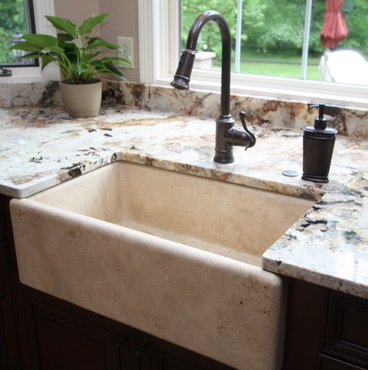 Travertine Stone Farmhouse sink