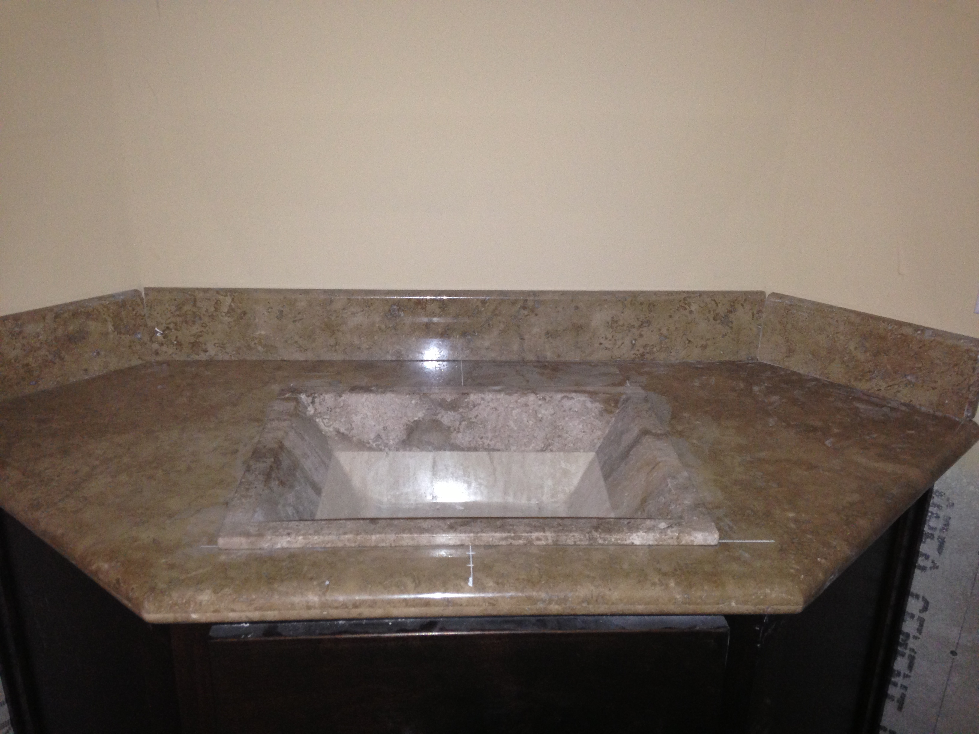 Travertine Undermount Stone Sink