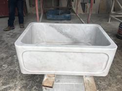 farmhouse sink white marble (4)