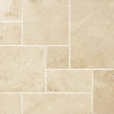 "Versailles Pattern ""Ivory"" Chiseled edge"
