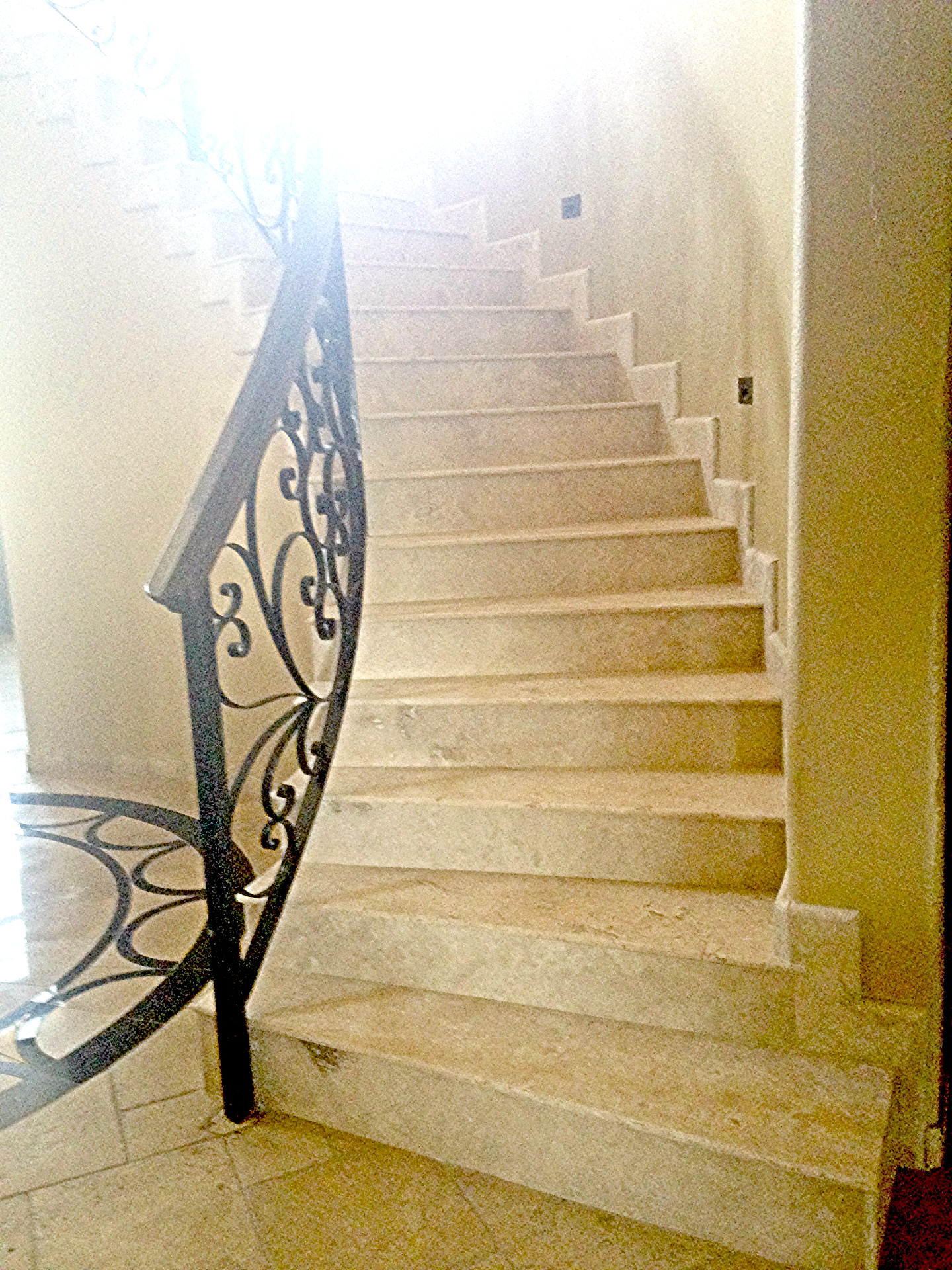 Cream Stone Travertine Honed Stairs