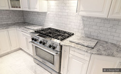 White Marble with Gray Mosaic