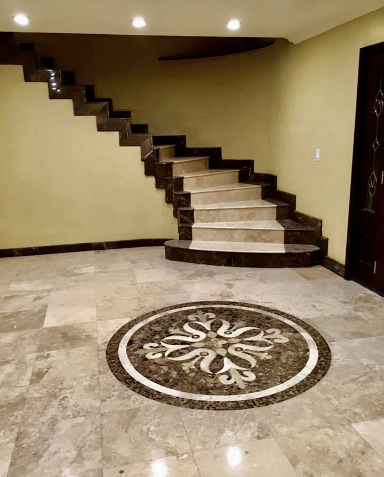 Custom Marble Stair Case