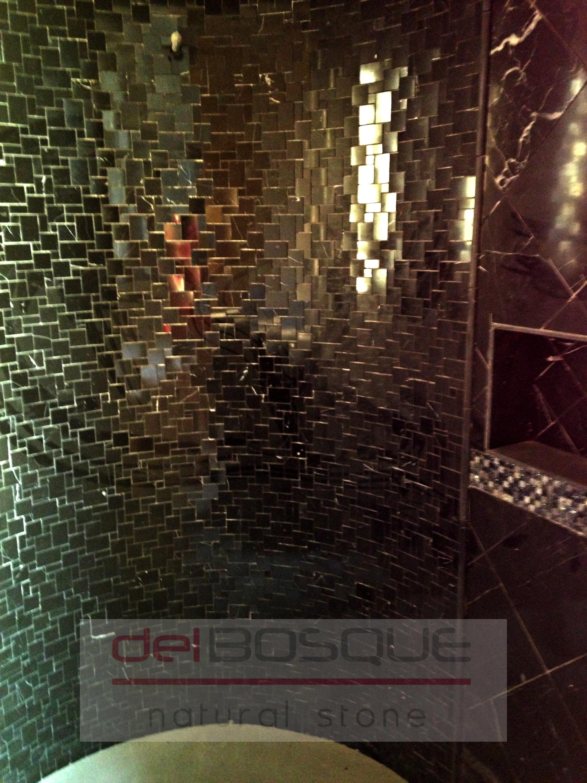 Black Marble Shower