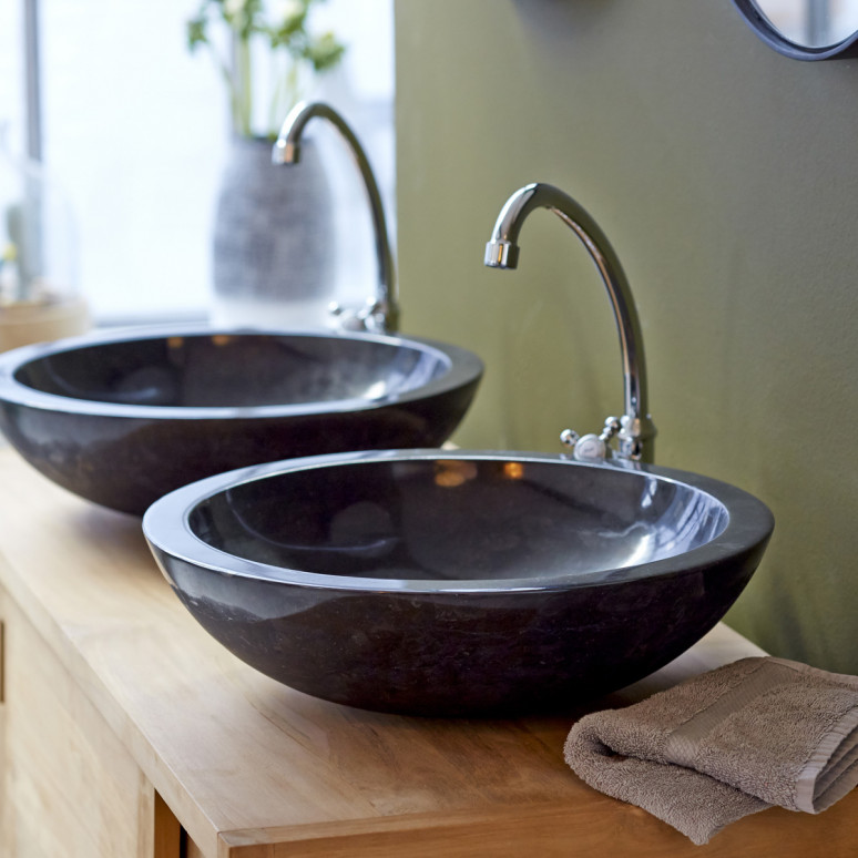 Black marble Bowl Sinks