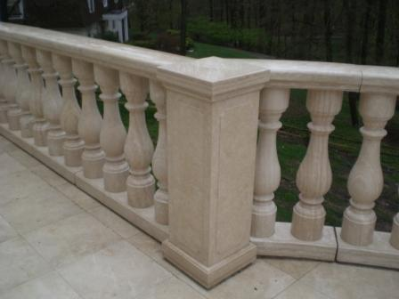 Cream Travertine Balustrades