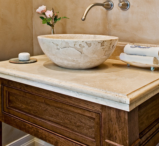 Cream Travertine Stone Sink