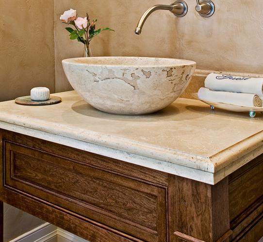 Cream Travertine Stone Sink