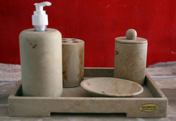 Travertine Set for Bathroom