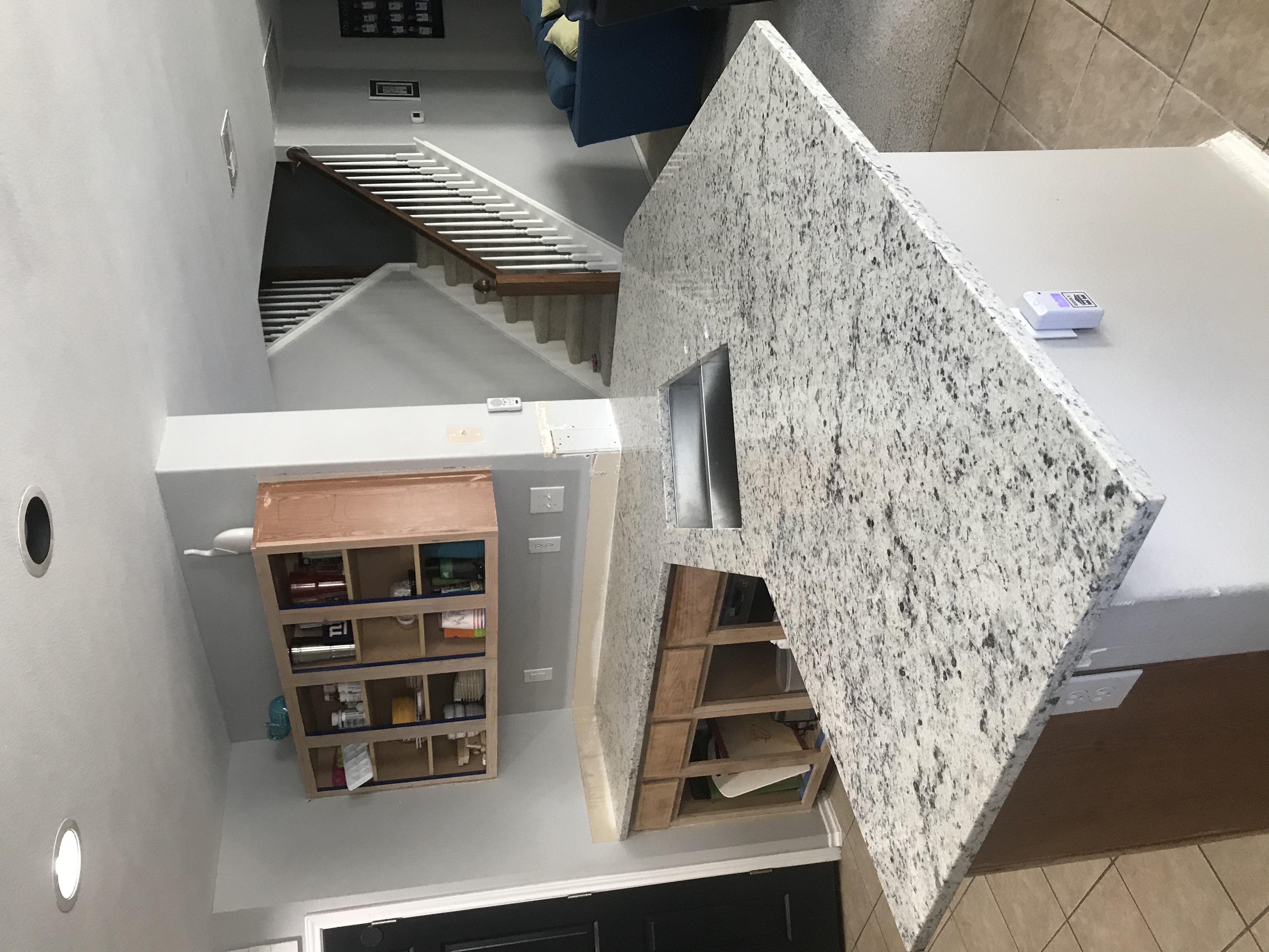 Dallas White Granite Installation