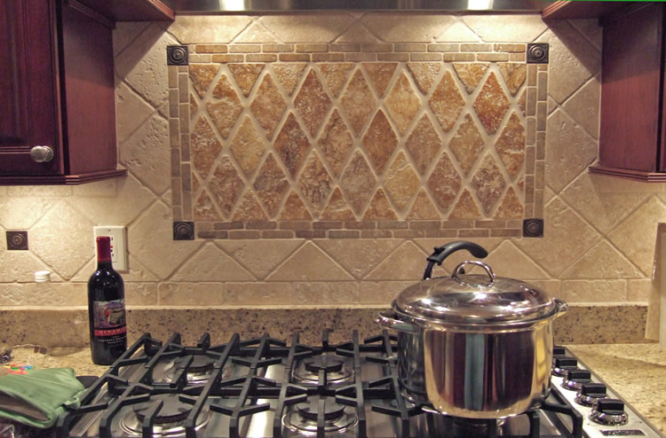 "4""x4"" Travertine Durango Backsplash"