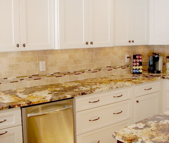 "3""x6"" Travertine Durango Backsplash"