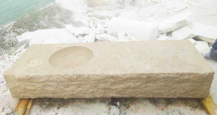 Solid Countertop with Chiseled Front
