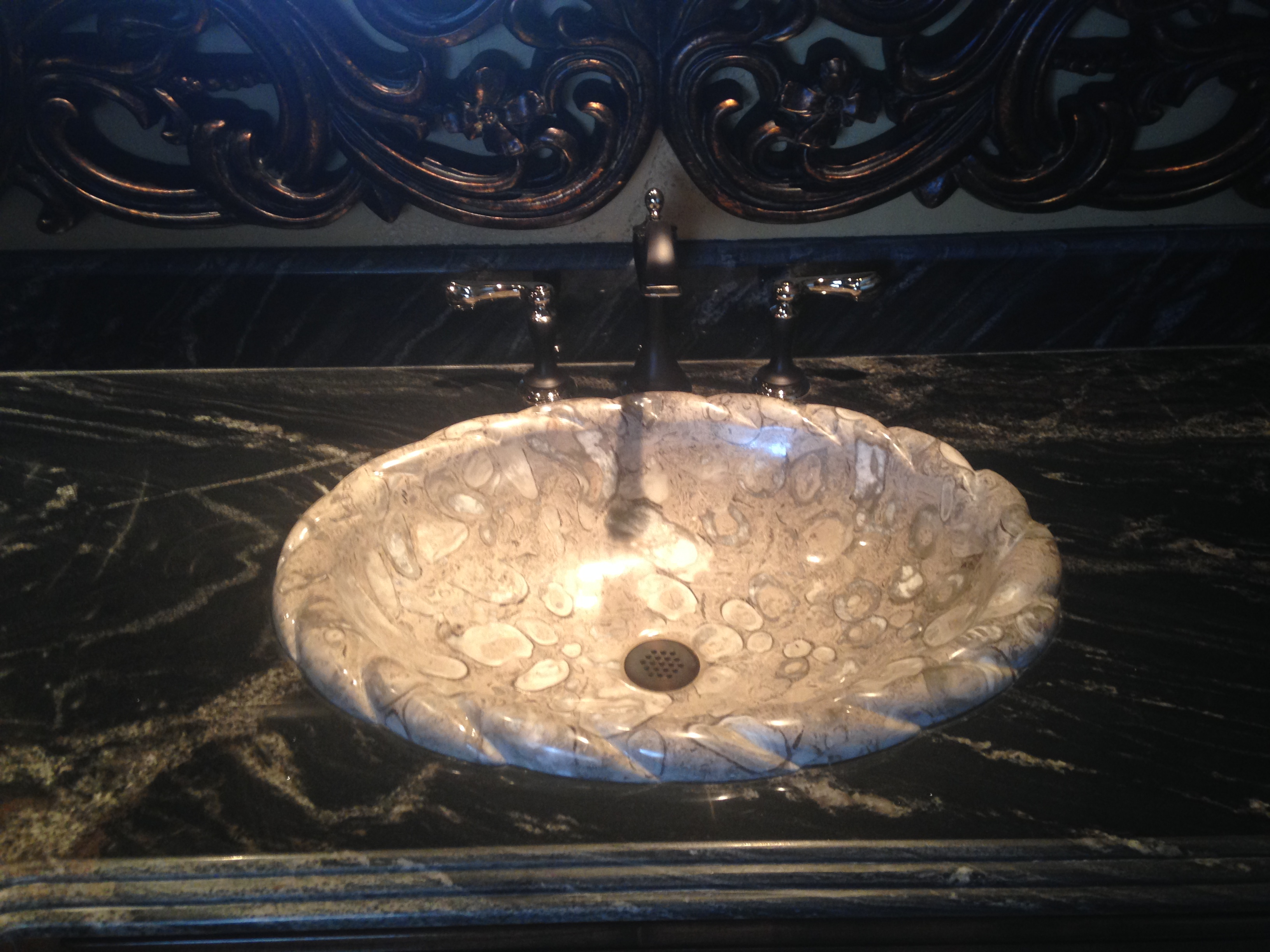 Gray Marble Undermount Sink