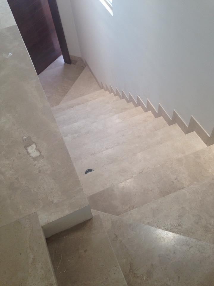 Modern Travertine Stairs