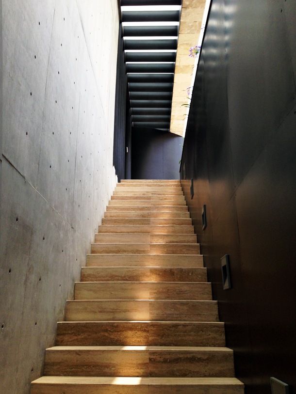 Modern Travertine Stairs