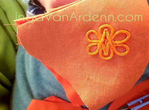 IVA Fashion Face Mask Custom Designer Reusable Orange Face Mask 4 layers&filter