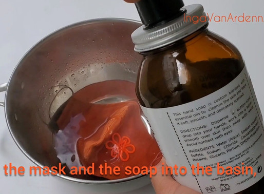 IVA Fashion How to wash reusable face mask with the filter