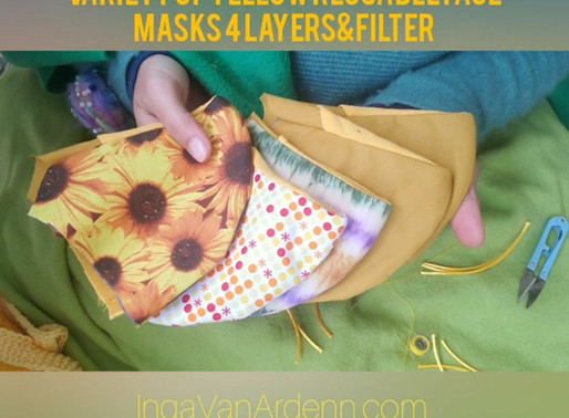 Variety of Yellow Reusable Face Masks