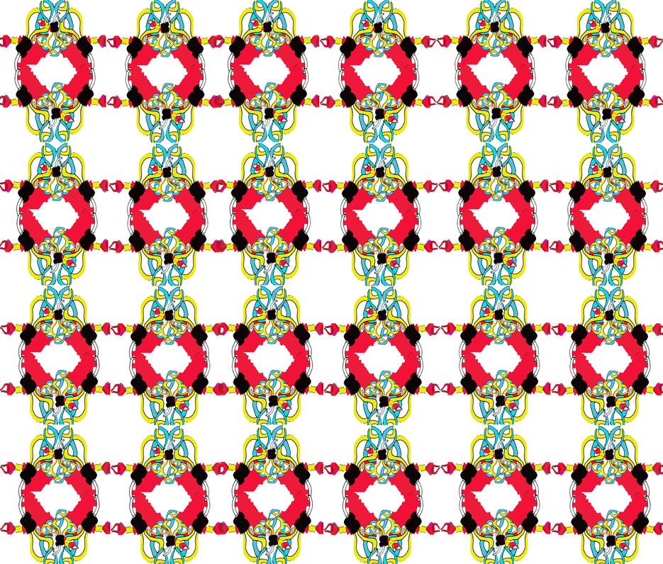 Shara Johnson Design - 'Red Beads' Ss15 Print Design