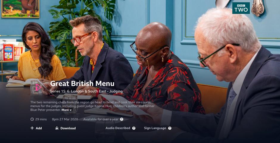 Great British Menu 2020 (Stylist)