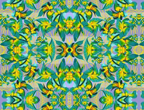 Shara Johnson Design 'Yellow Flowers Sing' Print