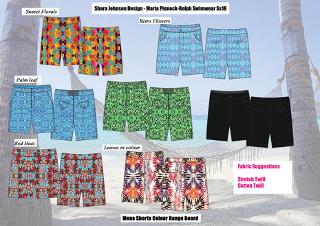 Shara Johnson Design - Sanavay Swimwear SS18 - Mens Shorts Range Board