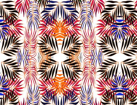 Shara Johnson Design - Sanavay Swimwear SS18 - 'Leaves in Colour' print Design