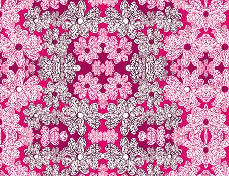 Shara Johnson Design - Sanavay Swimwear SS18 - 'Retro Flowers' print Design