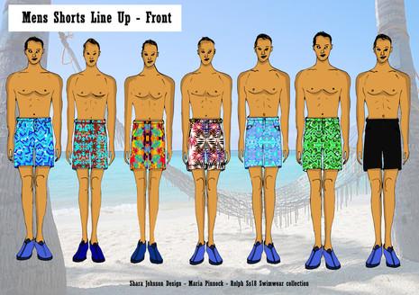 Shara Johnson - Mens wear Swim designs for Sanavay
