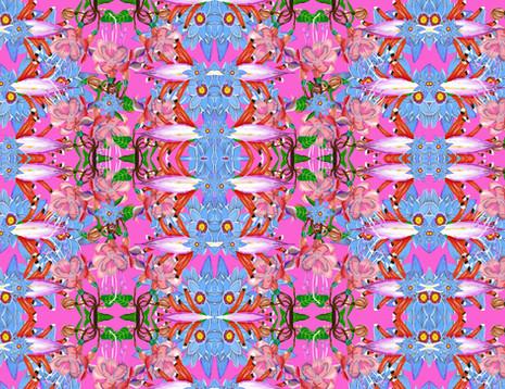 Shara Johnson Design - Sanavay Swimwear SS18 - 'Blue Flowers Bloom' print Design