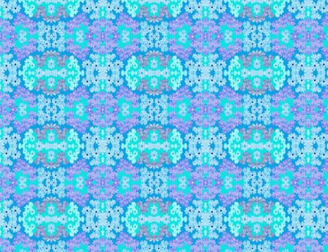 Shara Johnson Design - 'Blue Mini Retro Flowers'