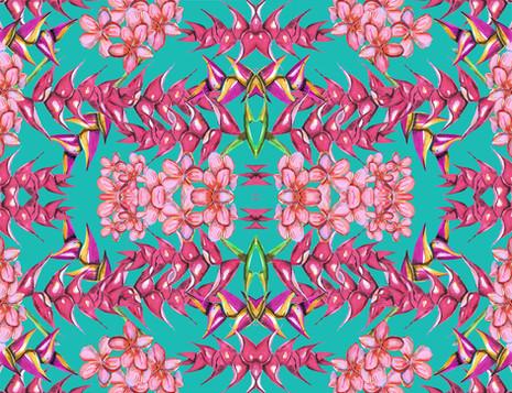 Shara Johnson Design - Spikey Flowers Print Ss18