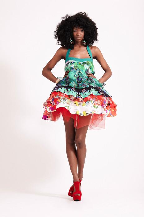 'Carnival Madness' Puff Dress