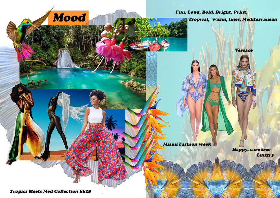 Shara Johnson Design - Sanavay Swimwear SS18 - Mood Board
