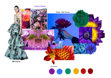 Shara Johnson Design - LVC SS17 18 - Floral colour board