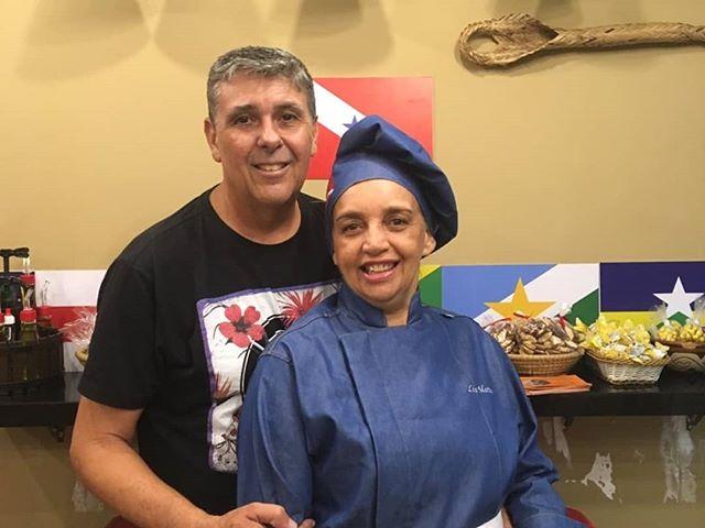 A Chef Lia Martins, seu esposo Ruben e a