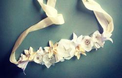 couronne de fleurs en origami