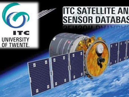 A comprehensive database of satellites and their sensors by University of Twente