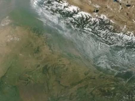 Stubble (parali) Burning In North India through Satellite imaging