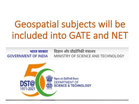 AICTE, India approves inclusion of Geospatial subject in GATE and NET exam