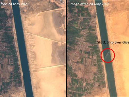 Suez Canal blockage, Satellite remote sensing's perspective