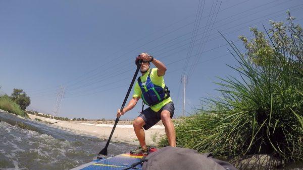 Los angeles River, paddling, standup paddling, sup, mti cascade pfd, paddling, river paddling, paddling tips, paddlexaminer