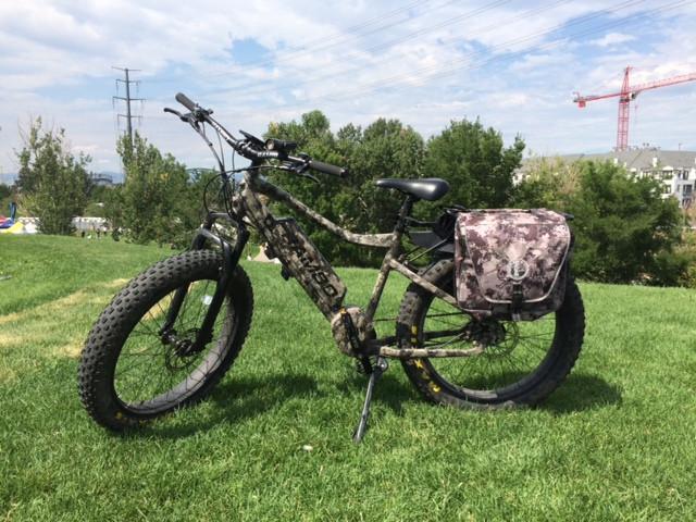 Rambo electric bike, outdoor retailer, paddlexaminer, confluence park