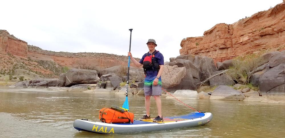 Michael Chebatoris, Hala Rado, Colorado River, PaddleXaminer, standup paddling, shelta hat, Hala Gear