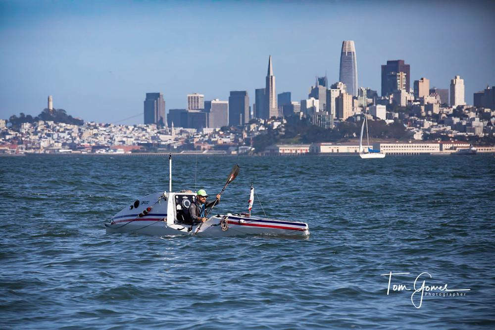 Cyril Derreumaux, California to Hawaii, Tom Gomes, Kayaker, PaddleXaminer, San Francisco to Honolulu
