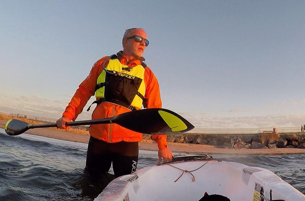 paddlexaminer, vaikobi vdry jacket, braca surfski paddle, vaikobi vxp life jacket, surfski, los angeles, marina del rey, bolle sunglasses, water sports, surfski paddling, california