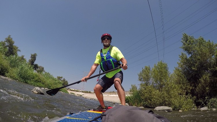 Hala Radito, PaddleXaminer, inflatable SUP, los angeles river, glendale narrows, hala gear, los angeles, whitewater